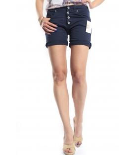 SLIDE OF LIFE shorts boyfriend baggy 4 buttons BLUE P88 4003 NEW
