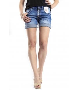 SLIDE OF LIFE shorts boyfriend baggy 5 buttons DENIM P88 4005 NEW