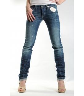 PLEASE jeans slim fit vita bassa dritto P89CBS08Q MEDIO SCURO NEW lady
