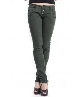 PLEASE jeans 3 buttons 3D P83ABT91F GREEN NEW