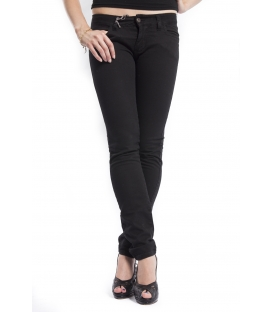 PLEASE jeans slim fit color with zip BLACK P24BAY0