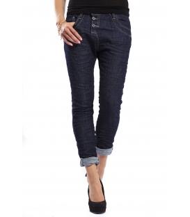 PLEASE jeans boyfriend baggy 3 buttons DARK DENIM + 3D P78ABQ2LL NEW
