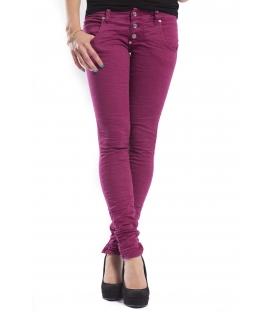 PLEASE jeans slim fit 3 buttons color EGG PLANT +3D P83ACV94U NEW