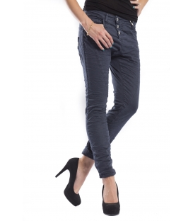 PLEASE jeans boyfriend baggy 3 buttons ULTRA MARINE + 3D P78ACU94U NEW