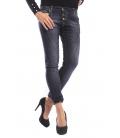 INNOVATIVE DESIGN jeans boyfriend baggy 3 buttons DARK DENIM 10287 NEW
