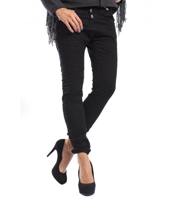 PLEASE jeans boyfriend baggy 3 buttons BLACK + 3D P78ACU94U NEW