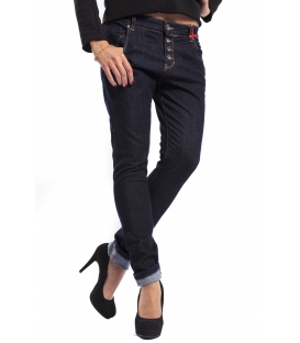 MISS MISS Jeans boyfriend 4 buttons 9855 DARK DENIM new