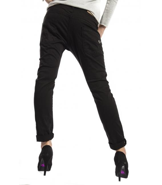 PLEASE jeans boyfriend baggy 3 buttons COLOR P78 new fabric BLACK