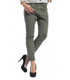 Dettagli su PLEASE jeans boyfriend baggy 3 buttons COLOR P78ADT64U NEW GREEN beautiful NEW