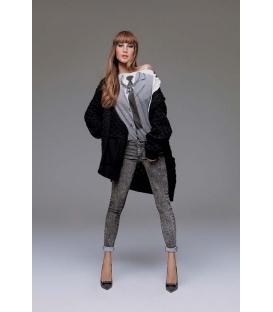 DENNY ROSE Cappotto in lana con bottoni NERO 51DR51034 FALL/WINTER 14-15 NEW