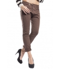 PLEASE jeans boyfriend baggy 3 buttons COLOR P78 CHOCOLATE new fabric 14-15