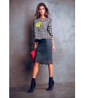 DENNY ROSE Sweatshirt double face BLACK 51DR61021 FALL/WINTER 14-15 NEW