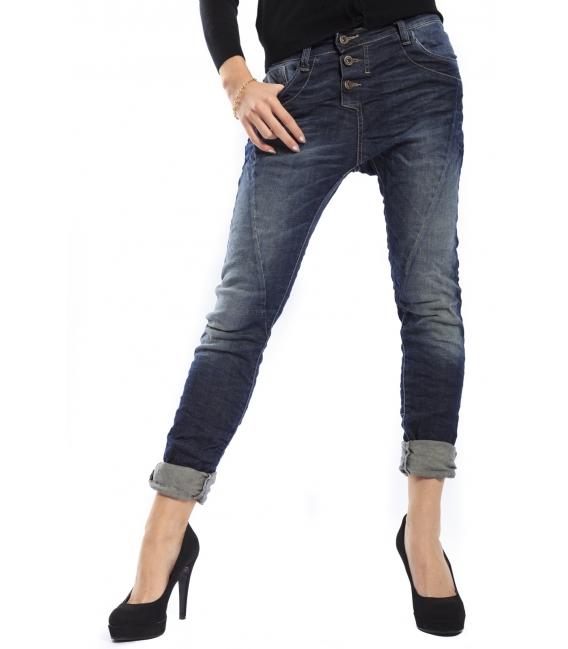 PLEASE jeans P78 2WQ boyfriend baggy 3 buttons DARK DENIM vintage deluxe NEW