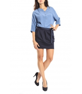 SUSY MIX Skirt with zip BLUE Art. 4141 FALL/WINTER 14-15