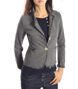 SUSY MIX Jacket with buttons and pois GREY Art. 173 FALL/WINTER 14-15