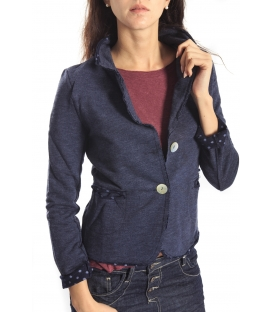 SUSY MIX Jacket with buttons and pois BLUE Art. 173 FALL/WINTER 14-15