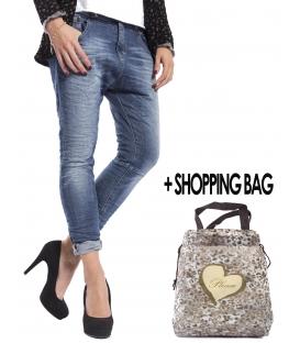 PLEASE P38 JEANS BOYFRIEND BAGGY with zip+ SHOPPING BAG DENIM 2015