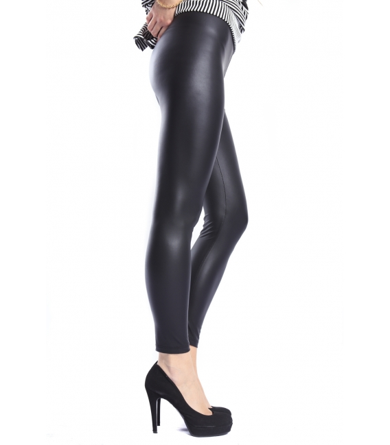 IMPERIAL Leggings slim fit in eco-leather BLACK PRH30DX NEW