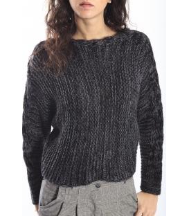 PLEASE maglia sweater in wool BLACK M46482025 NEW