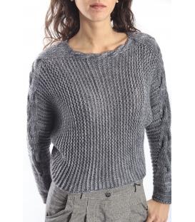 PLEASE maglia sweater in wool GREY M46482025 NEW