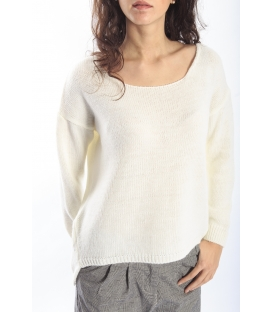 PLEASE Maxi maglia sweater PANNA M37008001 NEW