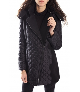 RINASCIMENTO Coat with detachable hood BLACK 059X990 WINTER 14-15 NEW