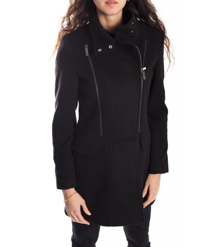 outlet store d3d05 a9e8c RINASCIMENTO Cappotto con cerniera BLACK 061X990 WINTER 14-15 NEW