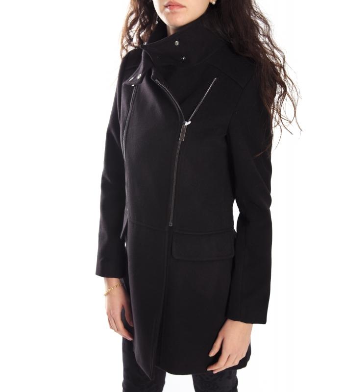 RINASCIMENTO Cappotto con cerniera BLACK 061X990 WINTER 14-15 NEW 17c9163852b