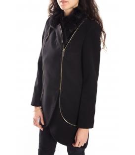 RINASCIMENTO Coat with detachable neck BLACK 062X990 WINTER 14-15 NEW