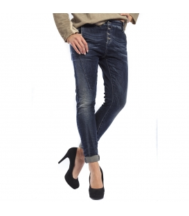 MARYLEY jeans boyfriend baggy 4 buttons DARK DENIM B66C FALL/WINTER 14-15 MADE IN ITALY