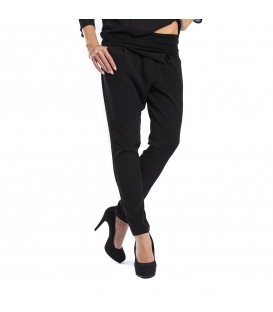 MARYLEY pants boyfriend baggy BLACK B51E FALL/WINTER 14-15 MADE IN ITALY