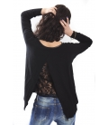 SLIDE OF LIFE Jersey with lace BLACK NEW COLLECTION SPRING 2015
