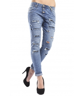 MADAME ELYSEES jeans boyfriend baggy 3 buttons DENIM Art. M10821 NEW COLLECTION SPRING 2015