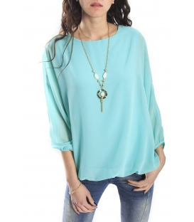 SLIDE OF LIFE Blouse TURQUOISE NEW COLLECTION SPRING 2015