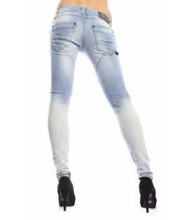 525 jeans slim fit 6 bottoni LIGHT DENIM P554505 NEW