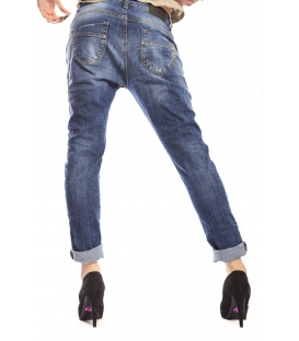 MARYLEY Jeans boyfriend baggy DENIM Art. B804 MADE IN ITALY