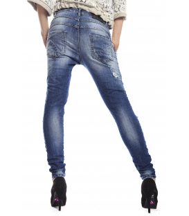 MARYLEY Jeans boyfriend baggy DENIM Art. B523 MADE IN ITALY