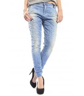MARYLEY Jeans boyfriend baggy LIGHT DENIM Art. B505 MADE IN ITALY