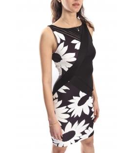 RINASCIMENTO Kleid with zip BLACK CFC0012782002