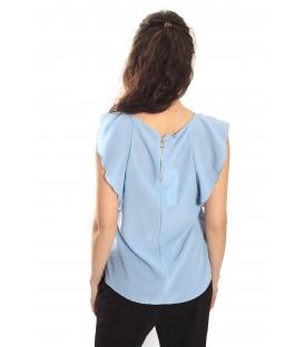 RINASCIMENTO T-shirt Top con zip AZZURRO Art. CFC0012770002 NEW