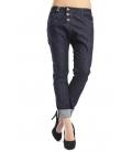 PLEASE jeans boyfriend baggy 3 buttons DARK DENIM P78DARKDENIM