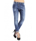 PLEASE Jeans boyfriend baggy with rips 3 buttons P78 021 NEW